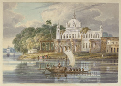 Temple of Ganga Gobind Singh, banian of Warren Hastings, at Kandi, at the meeting of the Bhagirathi and Jalangi rivers
